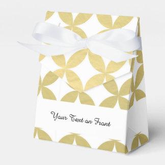 金ゴールドホイルの白いダイヤモンドの円パターン フェイバーボックス