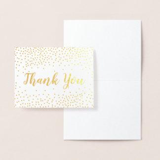 金ゴールドホイルの紙吹雪は感謝していしています 箔カード