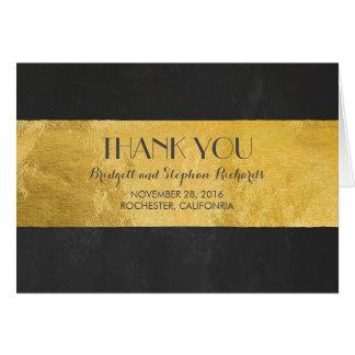 金ゴールドホイルの結婚式のモダンは感謝していしています カード