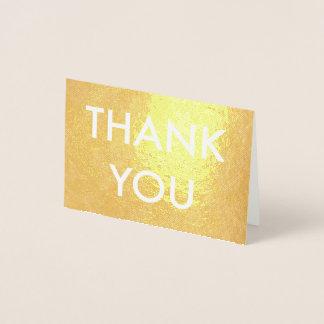 金ゴールドホイルの銀ぱくカードありがとう 箔カード