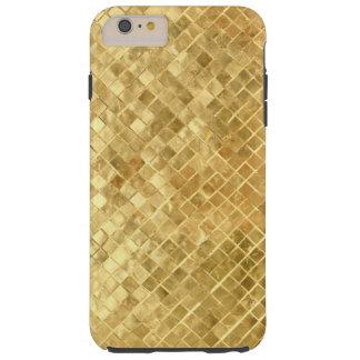 金ゴールドホイルのiPhone 6のプラスの場合 Tough iPhone 6 Plus ケース
