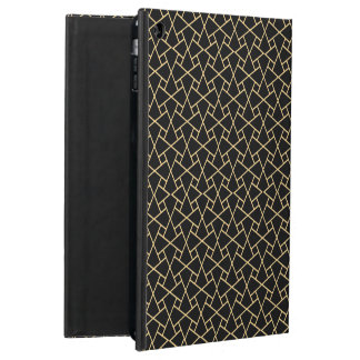 金ゴールド効果、黒イスラム教パターンiPadのPowisの場合 iPad Airケース