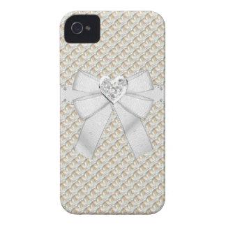 金ゴールド及びダイヤモンド及びハートの宝石のiPhone 4/4Sの場合 Case-Mate iPhone 4 ケース