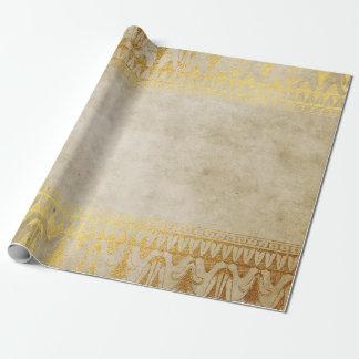 金ゴールド及び大理石のエジプトのデザインのギフトの包装紙 ラッピングペーパー