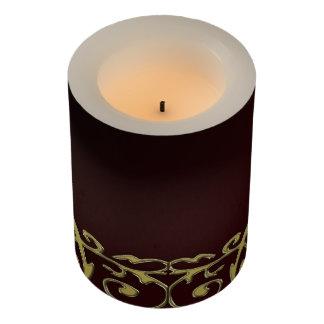 金ゴールド及び赤いLEDの蝋燭 LEDキャンドル