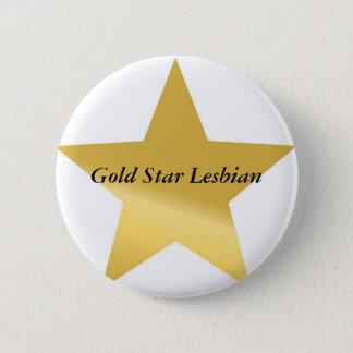 金ゴールド星2、金ゴールドの星のレズビアン 5.7CM 丸型バッジ