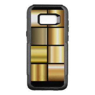 金ゴールド正方形パターンコラージュ オッターボックスコミューターSamsung GALAXY S8+ ケース