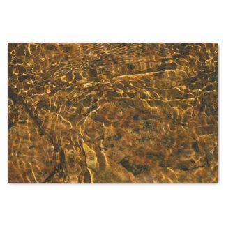 金ゴールド水パターンが付いているティッシュペーパー 薄葉紙