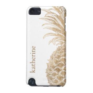 金ゴールド熱帯Pinneapple iPod Touch 5G ケース