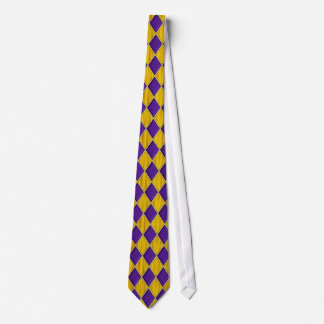 金ゴールド色のBkgrdの謝肉祭のタイの紫色のダイヤモンド ネクタイ