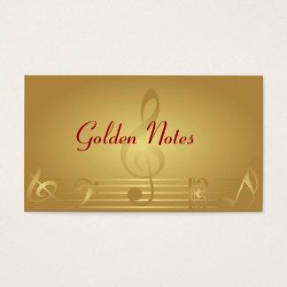 金ゴールド音楽は名刺に注意します 名刺