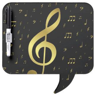 金ゴールド音楽ノート ホワイトボード