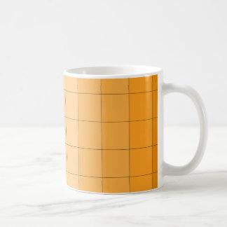 金ゴールド黄色い正方形のグラデーションでカスタマイズ可能な2 コーヒーマグカップ