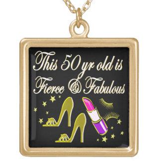 金ゴールド50およびすばらしい花型女性歌手のデザイン ゴールドプレートネックレス