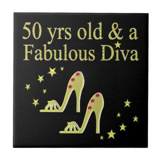 金ゴールド50及びすばらしい花型女性歌手のデザイン タイル