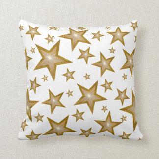 """""""金ゴールド""""は白い「文字」の正方形の白の背部を主演します クッション"""