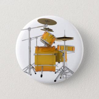 金ゴールド/黄色いドラムキット: 缶バッジ