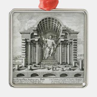 金ゴールドaのPhidias著なされるオリンピックのゼウスの彫像 メタルオーナメント