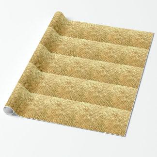 金ゴールドCRISSの十字パターン ラッピングペーパー