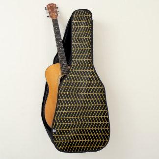 金ゴールドHerringboned ギターケース