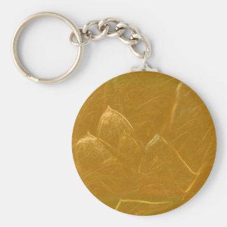 金ゴールドnの銅シート:  はすによって刻まれるデザイン キーホルダー