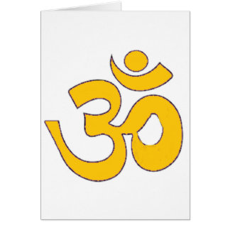 金ゴールドomのオウムのsanskrit信念、記号、オウムの形 カード