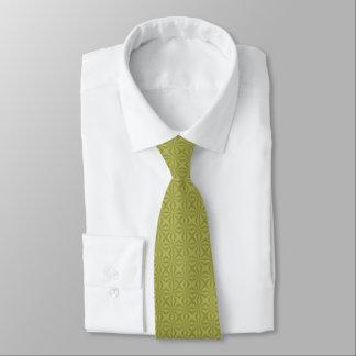 金スズ箔のSquiggly正方形 ネクタイ