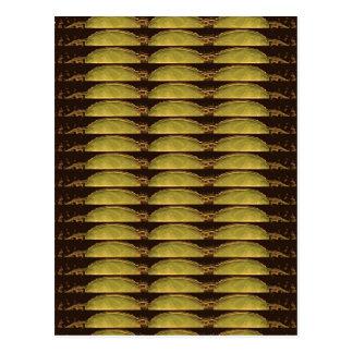 金ストリップパターン: ヴィンテージの偶像のイメージから ポストカード