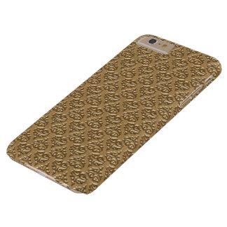 金ダマスク織のIPhone 6のプラスの場合 スリム iPhone 6 Plus ケース