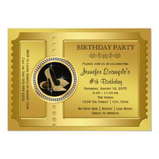 金チケットの誕生会 カード