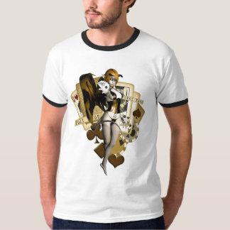 金トランプのポーカーの女の子2 Tシャツ