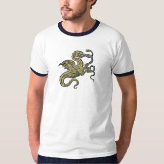 金ドラゴンの戦いのヘビ Tシャツ