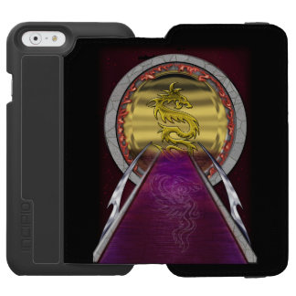 金ドラゴンの蒸気口 INCIPIO WATSON™ iPhone 6 財布ケース