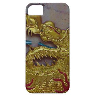 金ドラゴン、シンガポール iPhone SE/5/5s ケース