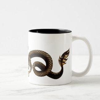 金ドラゴン ツートーンマグカップ