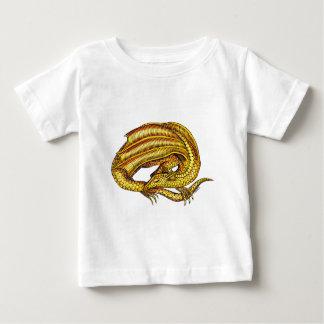 金ドラゴン ベビーTシャツ