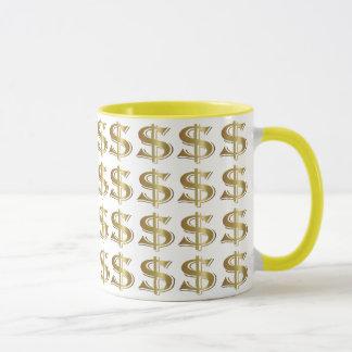 金ドル記号のコーヒー・マグ マグカップ