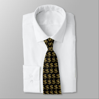 金ドル記号のタイ オリジナルネクタイ