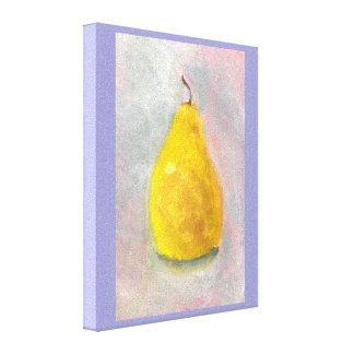 金ナシの静物画の水彩画 キャンバスプリント