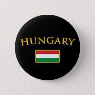 金ハンガリー 5.7CM 丸型バッジ
