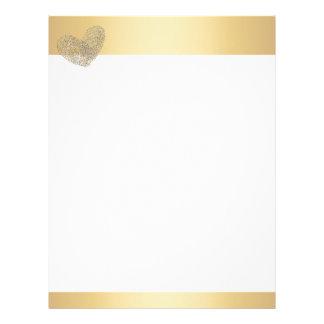 金ハートの文字デザインなthumbprint レターヘッド