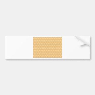 金ハートパターン バンパーステッカー