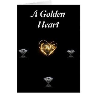 金ハート カード
