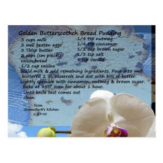 金バタースコッチのパンプディングレシピ ポストカード