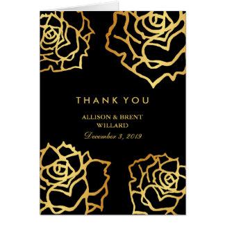金バラのサンキューカード カード