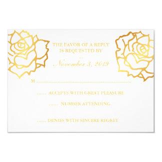 金バラRSVP -白 カード