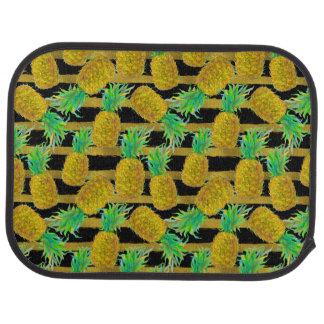 金パイナップルはの縞で飾ります カーマット