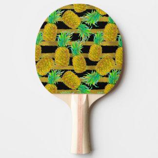 金パイナップルはの縞で飾ります 卓球ラケット