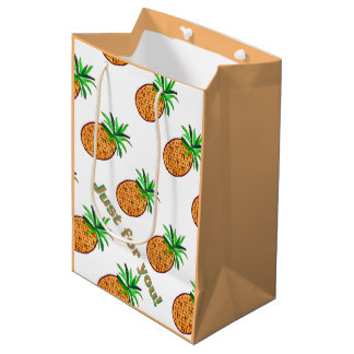 金パイナップル ミディアムペーパーバッグ