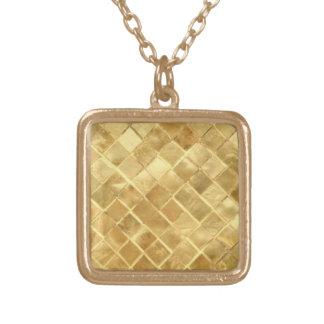金パターンは飾ります ゴールドプレートネックレス